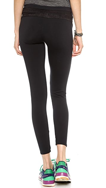 SOLOW Leggings with Scallop Lace