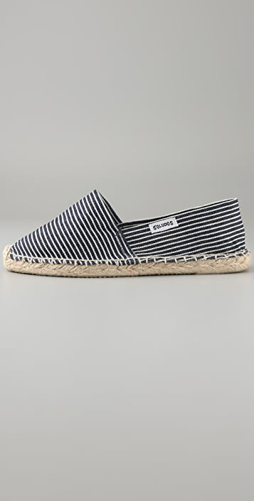 Soludos Choo Choo Stripe Flat Espadrilles