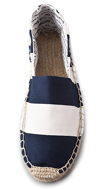 Soludos Barca Striped Flat Espadrilles