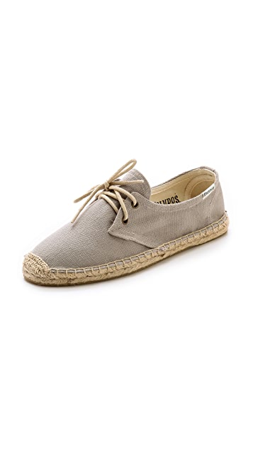 Soludos Canvas Derby Flats