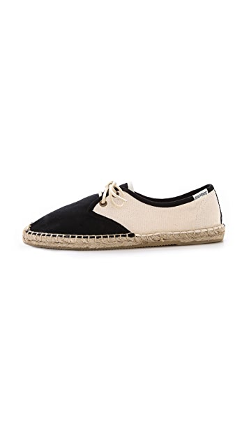 Soludos Canvas Colorblock Derby Flats