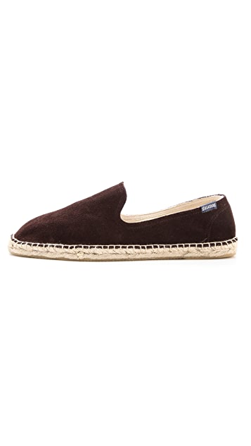 Soludos Suede Smoking Slipper Espadrilles