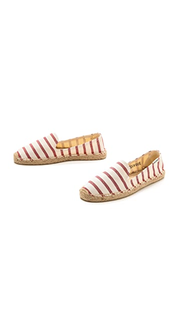 Soludos Striped Smoking Slipper Espadrilles
