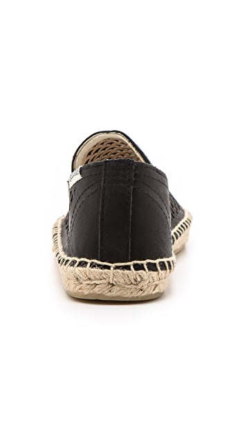 Soludos Perforated Leather Smoking Slippers