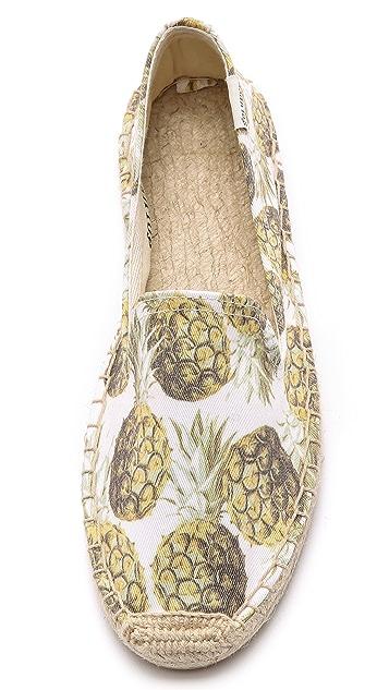 Soludos Pineapple Print Espadrilles