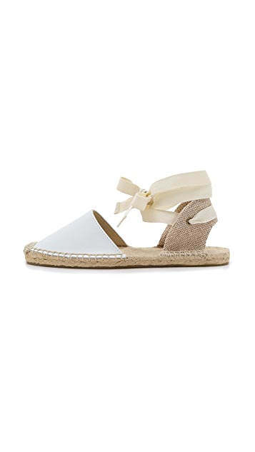 Soludos Classic Leather Espadrille Sandals