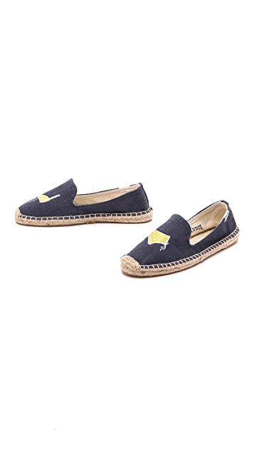 Soludos Embroidered Smoking Slipper Espadrilles