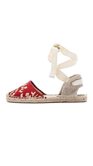 Soludos Wren x Soludos Batik Leaves Espadrille Sandals