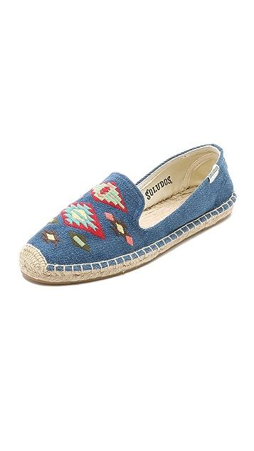 Soludos Thunderbird Embroidery Smoking Slippers