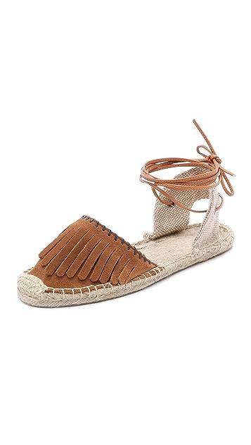 Soludos Classic Suede Fringe Sandals