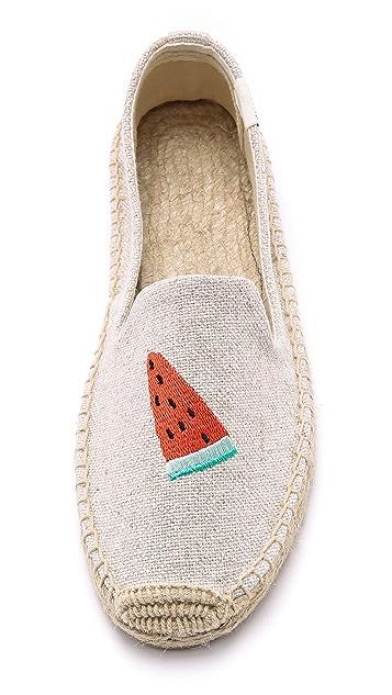Soludos Watermelon Smoking Slipper Espadrilles