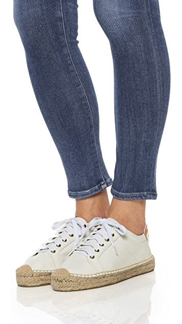 Soludos Теннисные кроссовки на платформе
