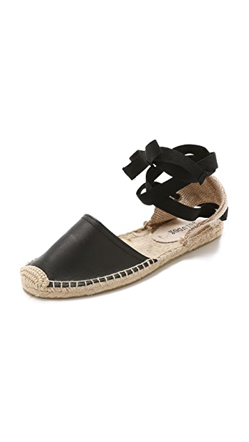 Soludos Leather Espadrille Sandals