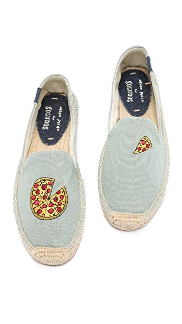 Soludos Jason Polan x Soludos Pizza Smoking Slipper Espadrilles