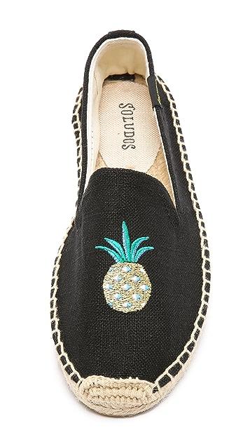 Soludos Pineapple Smoking Slipper Espadrilles