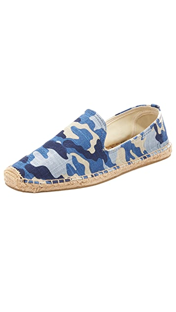 Soludos Camo Print Smoking Slippers