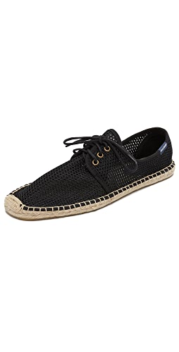 Soludos - Mesh Derby Lace Up Espadrilles