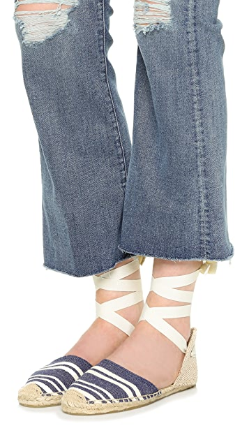 Soludos Candy Stripe Sandals
