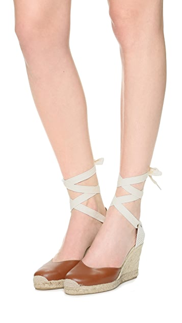 Soludos Tall Wedge Leather Espadrilles