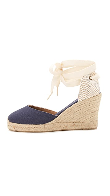 Soludos Tall Wedge Linen Espadrilles
