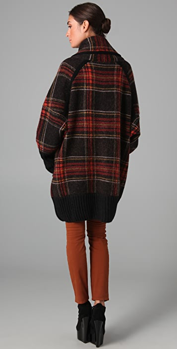 sonia rykiel oversized plaid sweater jacket shopbop. Black Bedroom Furniture Sets. Home Design Ideas