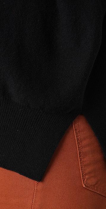 Sonia Rykiel Off Center V Neck Sweater