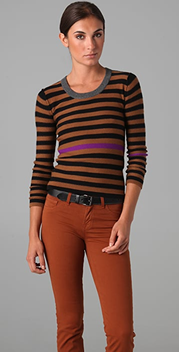 02cf55d9c8 Sonia Rykiel Signature Striped Cashmere Sweater | SHOPBOP