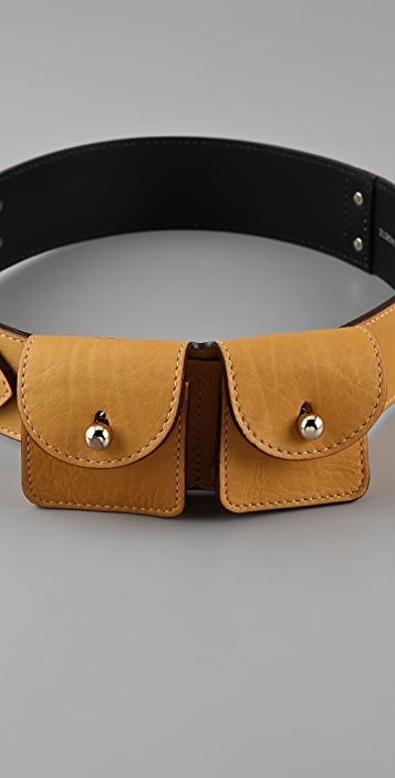 Sonia Rykiel Double Pouch Belt