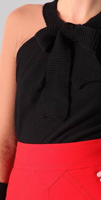 Sonia Rykiel Neck Tie Sweater