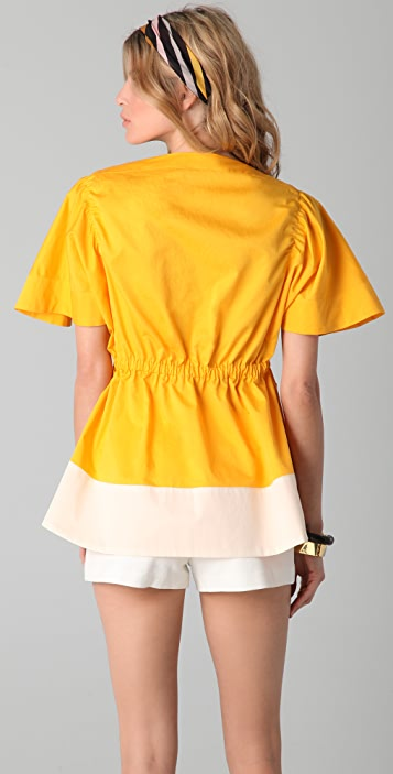 Sonia Rykiel Colorblock Top with Pockets
