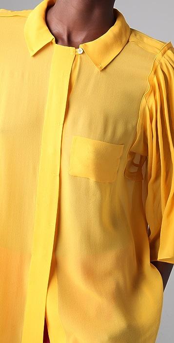 Sonia Rykiel Flare Sleeve Blouse