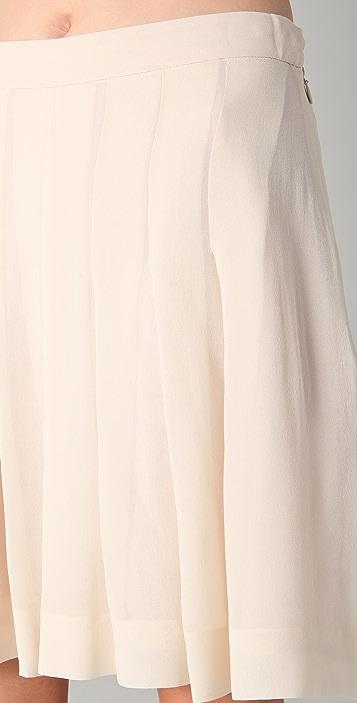 Sonia Rykiel Pleated Chiffon Shorts