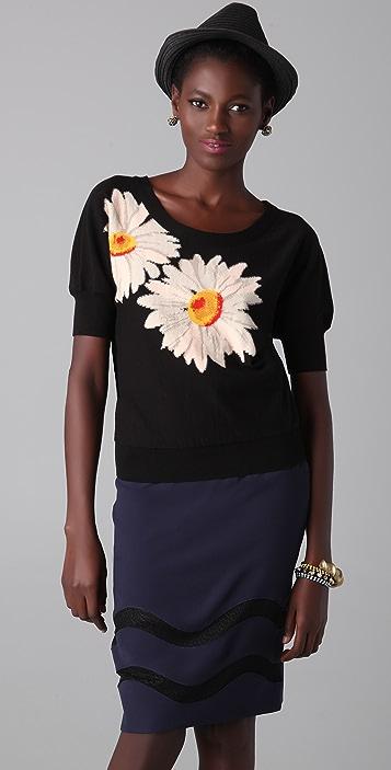 Sonia Rykiel Floral Knit Pullover