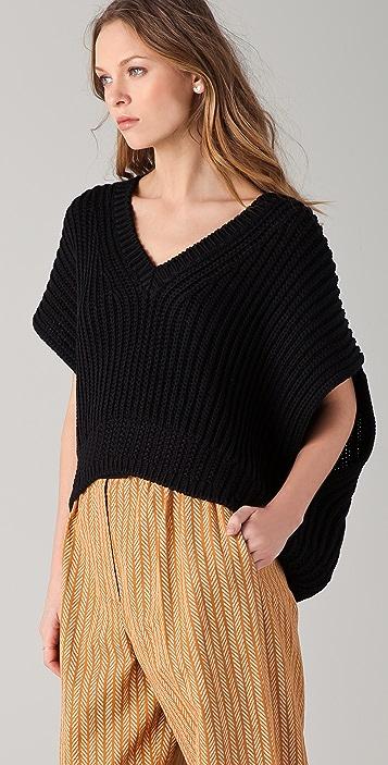 Sonia Rykiel V Neck Knit Top