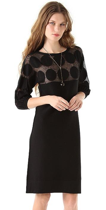 Sonia Rykiel Dot Top Knit Dress