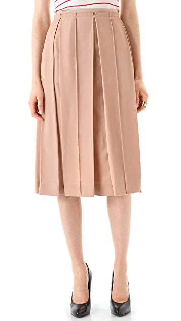 Sonia Rykiel Nude Pleated Skirt