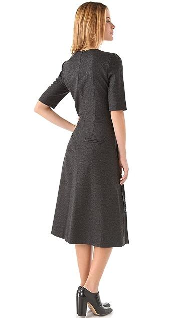 Sonia Rykiel Charcocal Pleated Dress