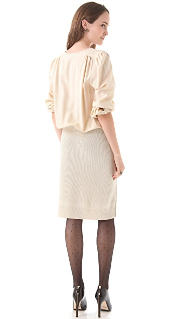 Sonia Rykiel Sateen & Knit Dress