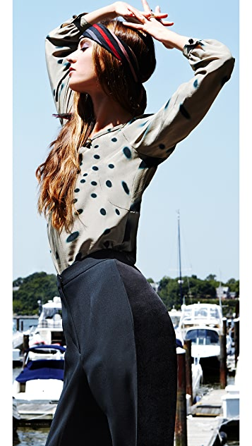 Sonia Rykiel Shadow Dot Key Hold Blouse
