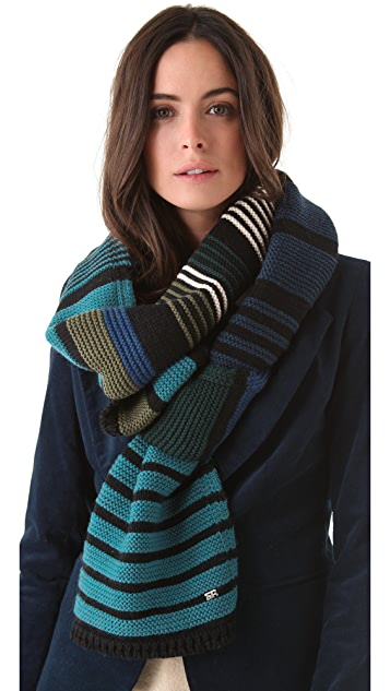 Sonia Rykiel Striped Long Scarf