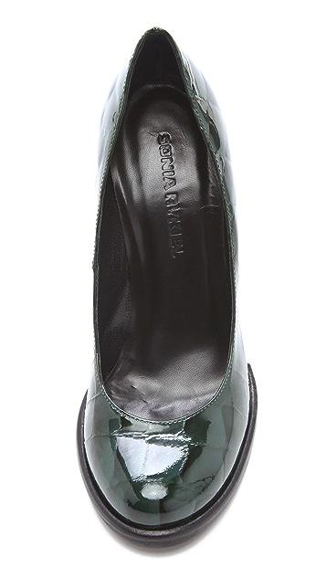 Sonia Rykiel Croc Patent Pumps