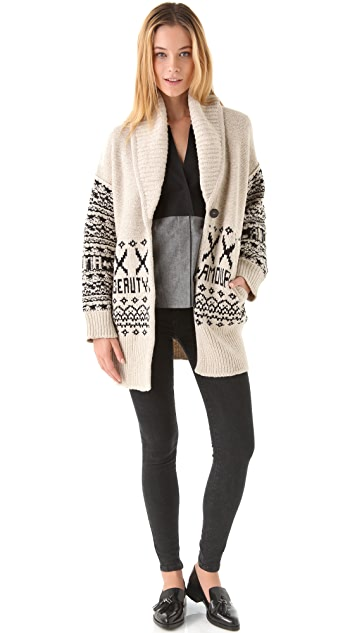 Sonia Rykiel Cream with Black Cardigan
