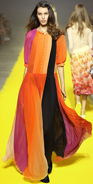 Sonia Rykiel Rainbow Impression Dress