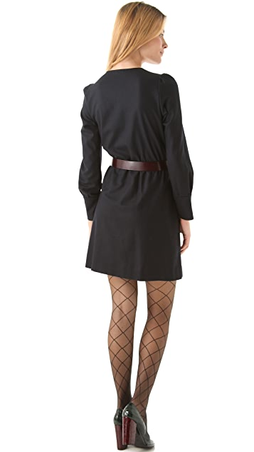 Sonia by Sonia Rykiel V Neck Faux Wrap Dress
