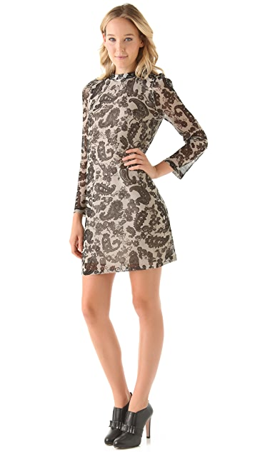 Sonia by Sonia Rykiel Lace Print Shift Dress
