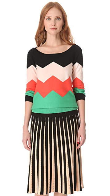 Sonia by Sonia Rykiel Chevron Stripe Sweater
