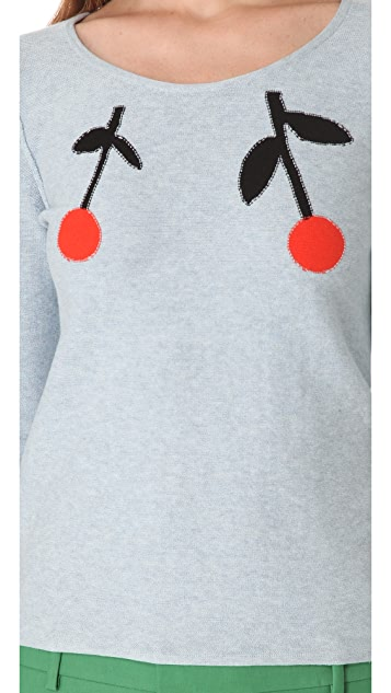 Sonia by Sonia Rykiel Cherry Sweater