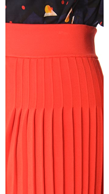 Sonia by Sonia Rykiel Pleated Knit Skirt