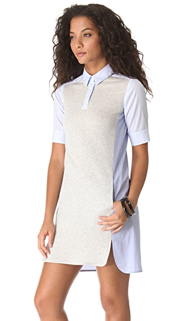 Sonia by Sonia Rykiel Cotton Combo Polo Dress