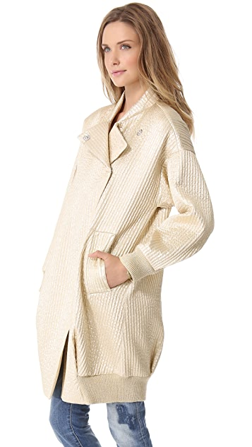 Sonia by Sonia Rykiel Metallic Coat